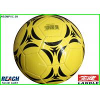 Buy cheap PVC PU Foam Leather Soft Touch Football Soccer Ball Yellow 32 Panel from wholesalers
