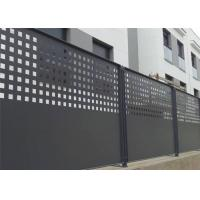 Buy cheap Slip Resistance Architectural Perforated Metal Panels Aesthetic Appeal For Residential Perimeter Fence from wholesalers