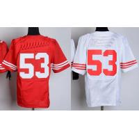 Buy cheap NFL jerseys San Francisco 49ers  53#Bowman  white&red Elite Jerseys from wholesalers