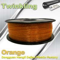 Buy cheap MSDS Twinkling Orange 3D Printer Filament 1.75mm Filament For 3d Printer product