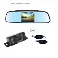 Buy cheap Wireless 4.3 Inch LCD Rear View Mirror With Reverse Bakcup Camera Universal Car Monitor Parking assistance from wholesalers