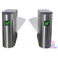 Buy cheap Stainless Steel Retractable Flap Barrier Gate , Bi - directional Multi Access Control Turnstiles from wholesalers
