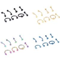 Buy cheap 16G Titanium Anodized Stainless Steel Body Jewelry Helix Piercing Ear Eyebrow Nose Lip Captive Rings Freeshipping from wholesalers
