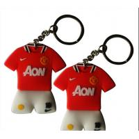 Buy cheap Red Manchester United Football Promotional Keychains Soft PVC / Rubber product