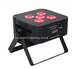 Buy cheap 2016 new style 5pcs LED Par RGBWA UV digital wireless battery par  led stage lighting from wholesalers