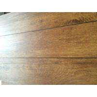 Buy cheap Heat resistant wood grain uv coating embossed PVC vinyl flooring planks product