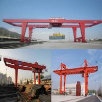 Buy cheap Rail type container gantry crane quayside container crane, 50 t double girder gantry crane from wholesalers
