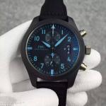 Buy cheap IWC Pilot's Top Gun Automatic 7750 Polish Ceramic Case Blue Mark Dial Watch titanium Back from wholesalers