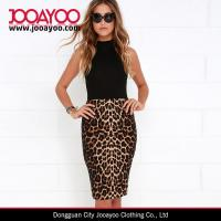 Buy cheap Mature Lady Chic Leopard Print Bodycon High-waisted Pencil Skirt from wholesalers
