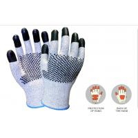 Buy cheap Best Sell Custom working glove cut resistant glove of CUT level 5, 13G HDPE yarn, nitrile dots on palm of China supplier from wholesalers