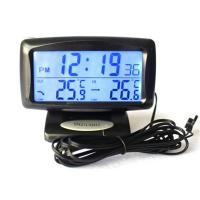 Buy cheap KS350 Car Electronic Clock Temperature Meter Auto Indoor And Outdoor Thermometer from wholesalers