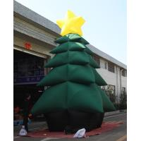Buy cheap Green PVC Coated Nylon Advertising Inflatable Chrismas Tree For Decoration from wholesalers