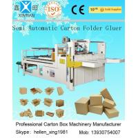 Buy cheap Siemens Electric Carton Making Machine of Semi-Auto Folder Gluer 4KW 5300mm Length product