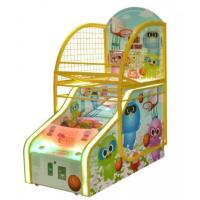 Buy cheap Happy Kids Automatic Basketball Return Machine , Cartoon Funny Score Ticket Redemption Arcade Basketball Hoop Machine from wholesalers