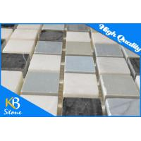 Buy cheap Wall Floor Rug Decorative Marble Mosaic Tiles / Art Deco Tile 1 x 1 Inch for Interior and Exterior Wall from wholesalers