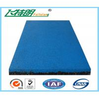 Buy cheap Eastic Rubber Playground Mats , EPDM Granule Red Safety Rubber Floor Mat for Gym from wholesalers