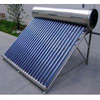 Buy cheap Pressurized solar water heater with heat pipe solar collector from wholesalers