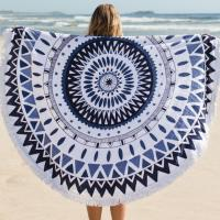 Buy cheap Round Circle Beach Towel Microfiber Round Printed Tassel Beach Towel Cheap Beach Towel from wholesalers