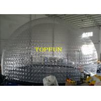 Buy cheap Transparent PVC Large Inflatable Bubble Dome Tent For Exhibition And Party from wholesalers