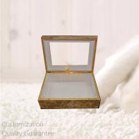 Buy cheap Luxury Burlwood Blank High Gloss Wooden Personal Gift Box with Window on Lid , Personalized Logo Brand. product