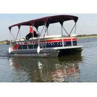Buy cheap Custom Color Sightseeing High Performance Pontoon Boats , 7.8m Diy Pontoon Boat from wholesalers