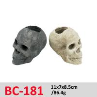 Buy cheap Smart Electric Stove Gas Fireplace Logs  Ceramic Fire Log Skull Set BC-181 from wholesalers