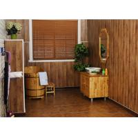 Buy cheap Sandalwood UPVC Wall Cladding / Smooth Vinyl Wall Panels For Corridor from wholesalers