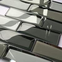 Buy cheap Luxury Bevel Look Mirror Glass Subway Tile Mosaic Glass Mirror Tiles 30x30 product
