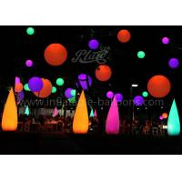Buy cheap LED Wick Inflatable Cone , Outdoor Decoration Water Drop Shape Inflatable Balloon from wholesalers