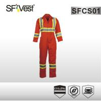 Buy cheap High visibility men poly-cotton fabric orange or lime overall M-5XL CSA Z 96-09 CLASS 1 product