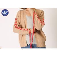 Buy cheap Spring / Autumn Womens Long Sleeve Cardigan Sweater Ribs Knitting from wholesalers