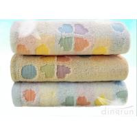 Buy cheap Flannel Face Cloth / Embroidered Face Towels With Jacquard Logo from wholesalers