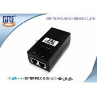 Buy cheap 12v 800MA POE Power Adapter Black Ethernet Power Adaptor 47Hz - 63Hz from wholesalers