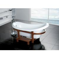 Buy cheap free standing white color bathtub,plastic bathtub for adult from wholesalers