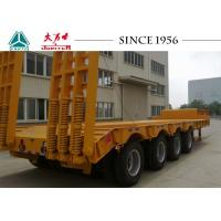 Buy cheap Heavy Duty 40FT Low Bed Trailer 150 Tons Big Payloads For Carrying Containers from wholesalers