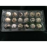 Buy cheap 18 Holes Clamshell clear transparent plastic PVC quail egg tray from wholesalers