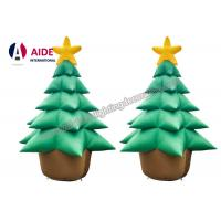 Buy cheap Oxford Cloth Giant Inflatable Holiday Decor , Air Brown Inflatable Christmas Tree from wholesalers