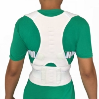Buy cheap Adjustable body posture corrector with magnets back support belt S-XXL size from wholesalers