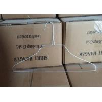 Buy cheap White Coated 2.0mm Metal Wire Shirt Hangers , 500 Pcs / Carton Packing from wholesalers
