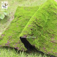 Buy cheap UVG landscape decor accessories flocking artificial moss carpet garden synthetic grass mat for indoors use GRS041 from wholesalers