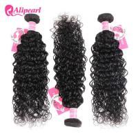 Buy cheap 8A Quality Virgin Brazilian Human Hair Bundles Water Wave No Oiled Gloosy product
