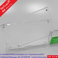 Buy cheap Plastic Menu Holder Table Stand Usage With Bussiness Card Box from wholesalers