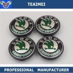 Buy cheap 65 / 55mm Car Wheel Hub Caps Logo ABS Plastic Black For Skoda from wholesalers