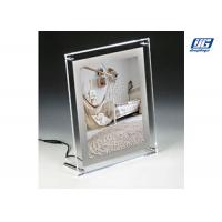 Buy cheap Desk Top Crystal Frame Back Lit LED Graphic Holder for Small Poster 297 x 210mm from wholesalers