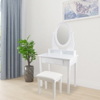 Buy cheap Fashion Solid Wood White 75*80*40cm Mirrored Dressing Table Stool from wholesalers