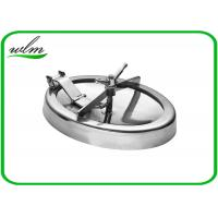 Buy cheap 304 316L Stainless Steel Manhole Cover Sanitary Elliptical Shape For Hygienic product