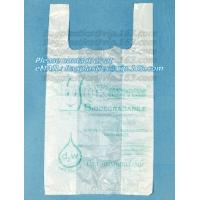 Buy cheap En13432 certified compostable bag on roll, 100% Compostable Vest Carrier Plastic Biodegradable Shopping Bag with EN13432 from wholesalers