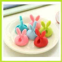 Buy cheap 6pcs/pack silicone wire clips holder with self sticker for promotion gift from wholesalers