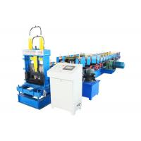 China Adjustable multiple models galvanized steel C / U / Z purlin roll forming machine with CE / ISO on sale