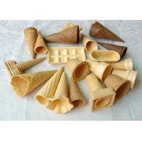 Buy cheap Multi Shape Coloured Ice Cream Sugar Cone , Chocolate Covered Waffle Cones from wholesalers